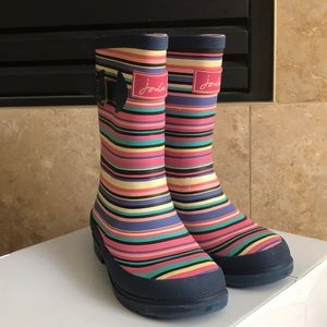Joules Girls Size US 13 Stripped Wellys